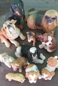 11 Dogs! Resin and China! All One Money!